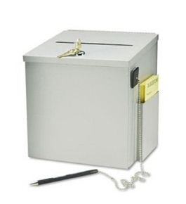 Buddy Products Steel Suggestion Box, 8 x 9.75 x 8.5 Inches, Platinum (5620-32)