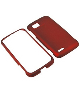 BW Hard Shield Shell Cover Snap On Case for AT&T Motorola Atrix 2 MB865 -Red