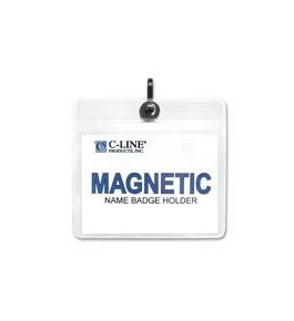 "C-Line Products, Inc. : Name Badge Holder Kits, Magnetic, Top Load, 3""x4"", 20/BX - Sold as 2 Packs"