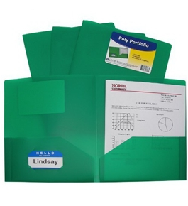 C-Line Two-Pocket Heavyweight Poly Portfolio, For Letter Size Papers, Includes Business Card Slot
