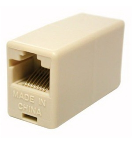Cables to Go RJ45 8-pin Modular Inline Coupler Straight Through, Ivory (01937)