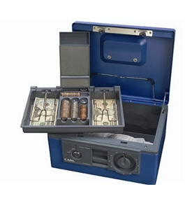 Carl Heavy Duty Security Box/ Dual Lock with Removable Cash/Coin Tray