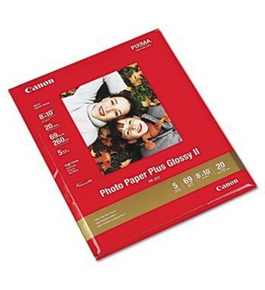 Canon Photo Paper Plus Glossy II PAPER, PP-201, 8X10, 20PK, WE (Pack of6)