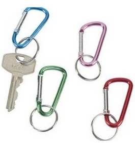 "Carabiner Band Clips, 12 Clips Per Pack - Assorted Colors -2"" Size"