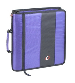 Case-it D-250 Zipper Binder, Purple Size - 13 X 12 X 2.8 inches