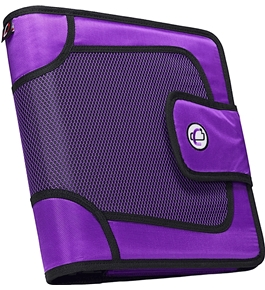 Case-it Velcro Closure 2-Inch Ring Binder with Tab File, Purple, S-816-PUR