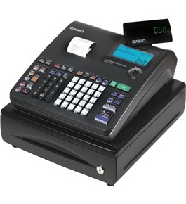 Casio PCR-T470 25-Department Cash Register with Thermal Printer (Black)