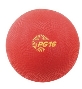 Champion Sports Playground Ball (Red, 16-Inch)