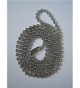 Chrome Beaded Neck Chain Key-ID-Badge-Reel Holder