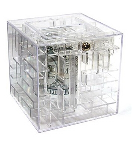 Clear Money Gift Maze Cash Puzzle Brain Teaser Box [Baby Product]