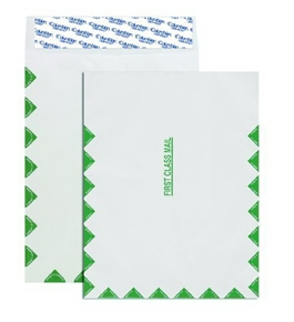 Columbian CO855 9x12-Inch Tyvek First Class Mail White Envelopes, 50 Count