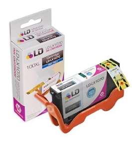 Compatible Replacement for Lexmark 14N1070 / 100XL High Yield Magenta Ink Cartridge