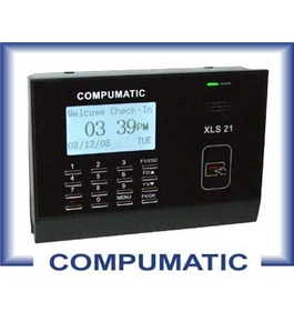 COMPUMATIC XLS 21 PROXIMITY BADGE CARD, EMPLOYEE PAYROLL TIME CLOCK PACKAGE