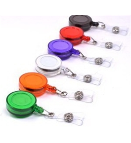 Cosmos 6 PCS Different Colors Plastic Retractable reel with Belt Clip for ID Badge
