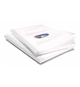 "Coverbind 1/16"" White Classic Advantage Thermal Covers 100pk - 575800"