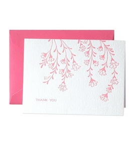 Crane & Co. Letterpress Cherry Blossom Thank You Notes (CT1110)