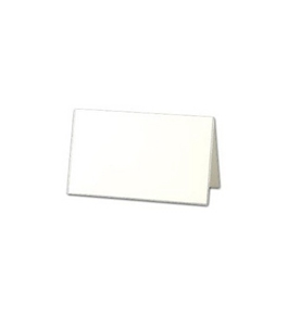 Crane & Co. Silver Bordered Pearl White Place Cards (DF924S)