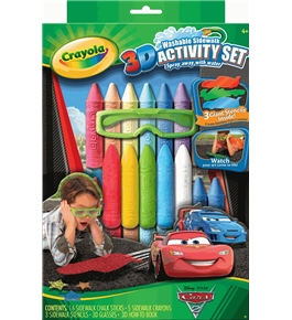 Crayola 3D Washable Sidewalk Chalk Activity Set