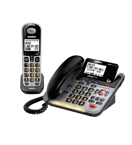 D3098S DECT 6.0 Expandable Corded/Cordless Phone withCaller ID and Answering System, Silver, Handset and Base