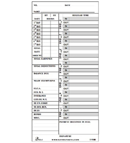 david link t 9300 weeklybi weekly time cards - Bi Weekly Time Cards