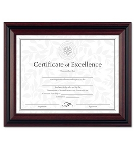 DAX Document Frame, Insert 8-1/2 x 11 Inches, Frame 10-1/2 x 13 Inches, Rosewood/Black (DAXN15786NT)