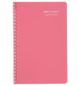 Day Runner Blossoms Recycled Weekly/Monthly Planner, 5-Inch x 8-Inch, Pink, 2011/2012 (751-200A)