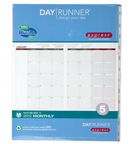 Day Runner Express Recycled Planning Pages, 8 1/2 x 11 Inches, 2012 (068-685Y)