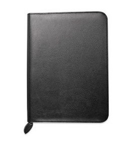 Day-Timer Biscayne Bonded Leather Cover, Zip-closure - JOURNAL, 82991 - Black