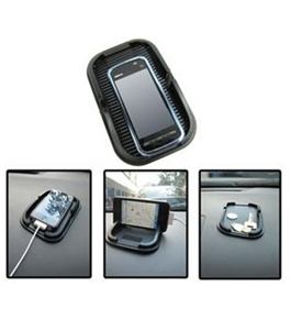 Dayday@car Anti Slip Mat for GPS Cellphone Iphone 4 and Iphone 4s Mobile Phone with Black Color