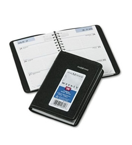 DayMinder Recycled Weekly Appointment Book, 3 x 6 Inches, Black, 2013 (G250-00)
