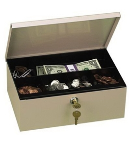 "Deep Steel Cash Drawer, 11 1/4""x7 1/2""x4"", Pebble Beige (PMC04971) Category: Cash Boxes and Trays"