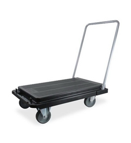 Deflect-O CRT530004 Heavy Duty Platform Cart-300 Lb. Capacity, Black