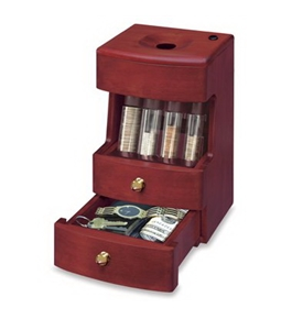 Deluxe Caddy Valet Solid Wood Motorized Coin Sorter