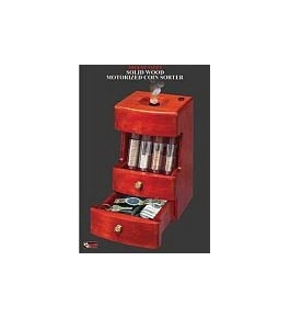 Deluxe Valet-Motorized Coin Sorter - Electronic Piggy Bank & More!