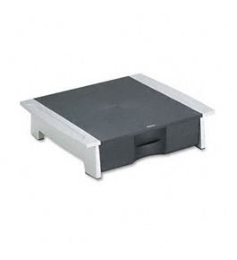 "Desktop Printer Stand, 21-1/4"" x18-1/16"" x5-1/4"", Black/Silver"