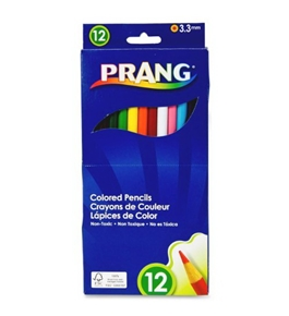 Dixon Prang Presharpened 7-Inch Colored Pencils, 12-Color Set (22120)