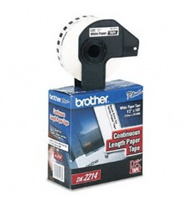 Brother DK2214 Narrow Continuous White Paper Tape Labels