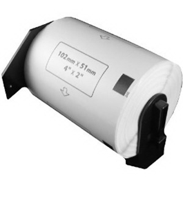 "Brother DK1240 Compatible 4"" x 2"" White Labels"
