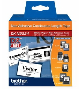 Brother DKN5224 Non-Adhesive Continuous Paper Tape Roll