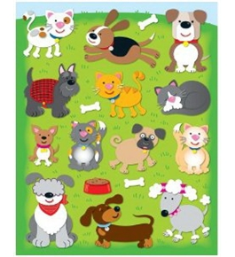 Dogs & Cats Shape Stickers
