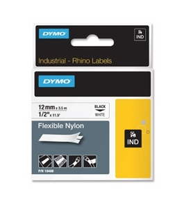 DYMO 1/2 Inch Flexible Industrial Strength Nylon Labels for Rhino 1000/3000 Label Printer (18488)