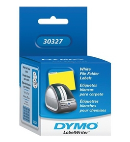 "DYMO LabelWriter Filing Label, File-Folder, White, 9/16"" x 3-7/16"", 260 per pack"