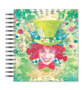 ECOeverywhere Mad Hatter Picture Photo Album, 18 Pages, Holds 72 Photos, 7.75 x 8.75 Inches, Multicolored (PA12195)