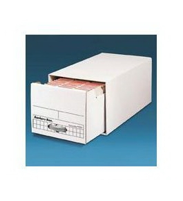 Econo/Stor File Drawer, Ltr, 12 1/4wx10 1/4hx23 1/2d, White, 2/Pack