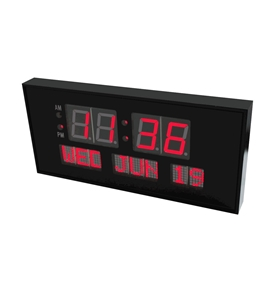 "eHealthSource Digital LED Calendar Clock, 15 3/4"" Day and Date 