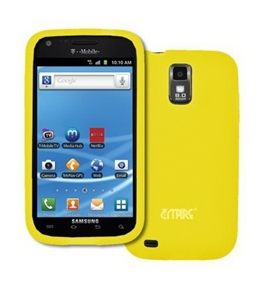 EMPIRE Yellow Silicone Skin Case Cover for T-Mobile Samsung Galaxy S II