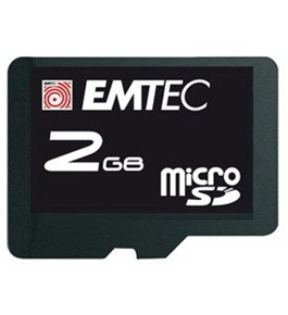 EMTEC micro secure digital 2GB Memory card with adapter SDM2GB