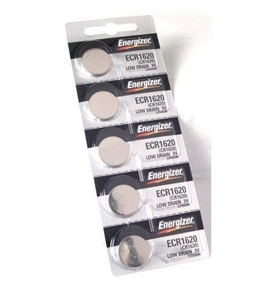 Energizer CR1620 Lithium Battery, Card of 5 *ORMD