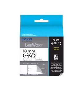 Epson LabelWorks Standard Tape Cartridge (Black on White) (~3/4 Inch, ~30 Feet) (LC-5WBN9)