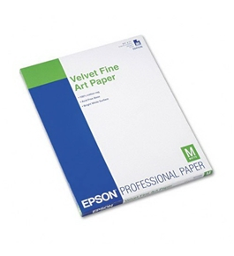 Epson Velvet Fine Art Paper, White, 20 Sheets/Pack